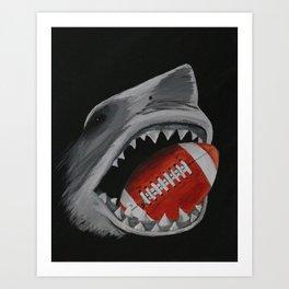 Landshark Football Art Print