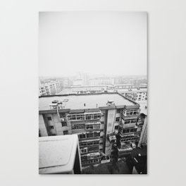 Above The Scaffolding Canvas Print