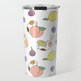 Guinea pig and fruits pattern Travel Mug