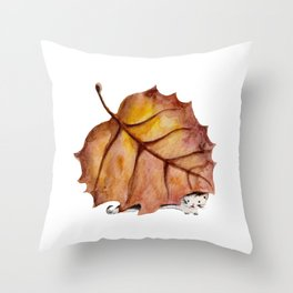Autumn Cat Throw Pillow