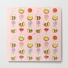 BEES! Metal Print
