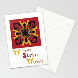 Home Sweet Home - Red Black Stationery Cards