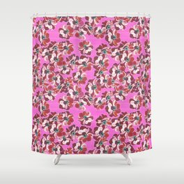 Anemone flowers on magenta background Shower Curtain