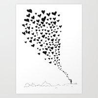 Love flow Art Print