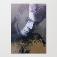 bowie Canvas Prints featuring BOWIE by michael pfister