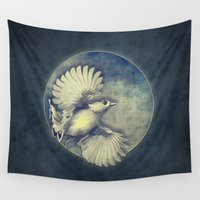 pagan Wall Tapestries featuring Fly Me to the Moon by Nirvana.K