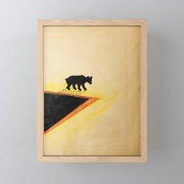 White Bear After Black gold Bath   Framed Mini Art Print