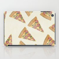 pizza iPad Cases featuring pizza by Maha Akl
