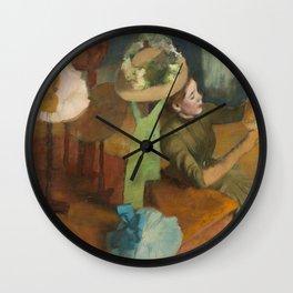 Edgar Degas - The Millinery Shop Wall Clock