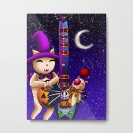 Fusion Keyblade Guitar #182 - Mogry of Glory & Pumpkinhead Metal Print