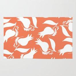 Coral Tulips Floral Modern Pattern Rug