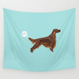 Irish Setter farting dog cute funny dog gifts pure breed dogs Wall Tapestry