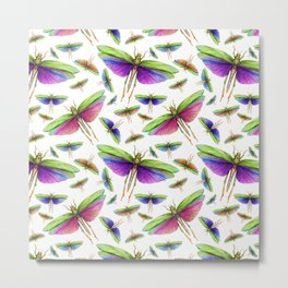 Colorful Insects Metal Print