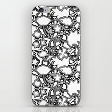 Lila's Flowers Repeat Black and White iPhone & iPod Skin