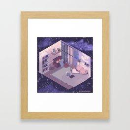 Space Room Framed Art Print