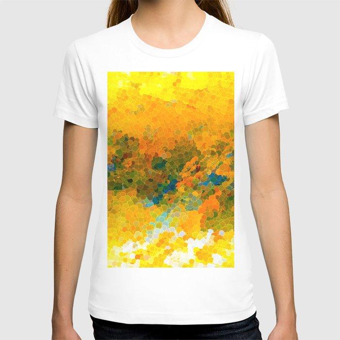Morning Sun Glow Circle Pattern Abstract T-shirt