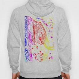 Rainbow Zentangle Elephant Hoody