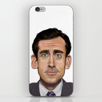 michael scott iPhone & iPod Skins featuring Michael Scott-World's Best Boss by Dylan Holden