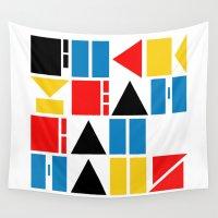 bauhaus Wall Tapestries featuring Fuck Yeah Bauhaus! by Picomodi