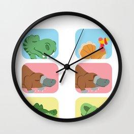 Evolution Dino platypus crocodile joke gift Wall Clock