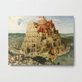 Pieter Bruegel the Elder - The Tower of Babel Metal Print