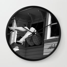 Amazing Legs Out Of A Window Wall Clock