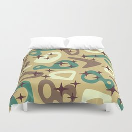 Retro Mid Century Modern Abstract Composition 940 Duvet Cover