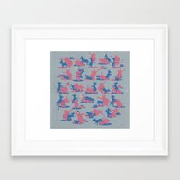 politics Framed Art Prints featuring Bipartisan Politics by Jeff Szuc