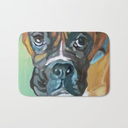 Drako the Rescued Boxer Bath Mat