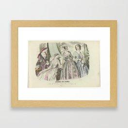 Journal des Dames, Juin 1850, No. 1608  Ch. Mme Louis Janet..., Anonymous, 1850 Framed Art Print