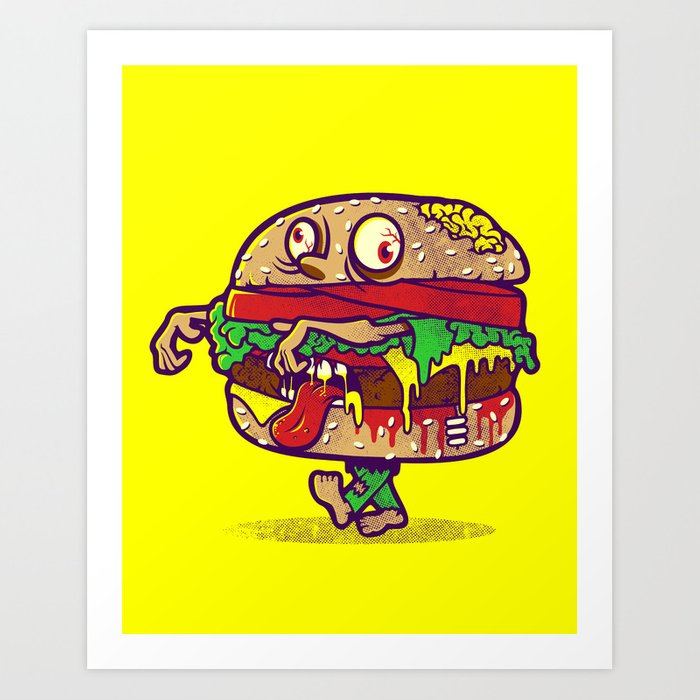 ZOMBURGER Art Print