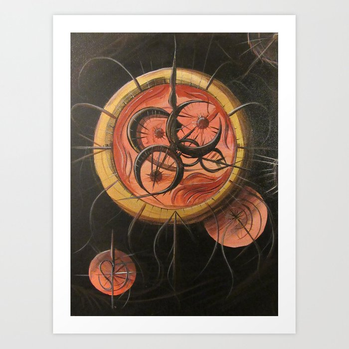 Cthulu Compass Art Print
