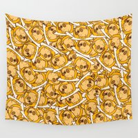 egg Wall Tapestries featuring Puglie Egg by Puglie Pug