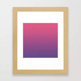 Bright Pink Ultra Violet Gradient | Pantone Color of the year 2018 Framed Art Print