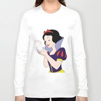 snow white Long Sleeve T-shirts featuring Snow White by mark ashkenazi