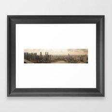 Real Life SimCity Framed Art Print