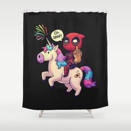 Infinity Chimichanga // Superhero Merc, Unicorn, Meme Shower Curtain