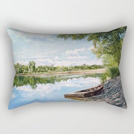 "Oil painting ""On the river"" Rectangular Pillow"