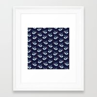 swallow Framed Art Prints featuring Swallow by Azulblau