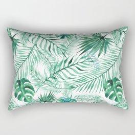 Green Tropical Mix Rectangular Pillow