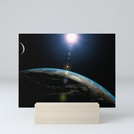 Planet Earth outer space Mini Art Print
