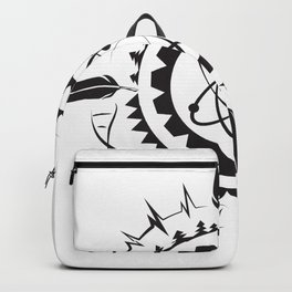 Native Stem Mandala Backpack