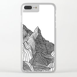 Mountain Lines Clear iPhone Case