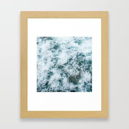 Waves in Abstract Framed Art Print