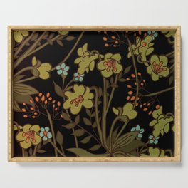 olive flowers Serving Tray
