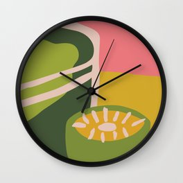 fresh lemons Wall Clock
