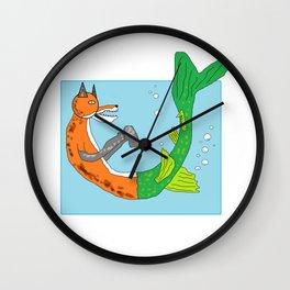 River Fox Wall Clock