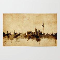 Berlin Germany Skyline Rug