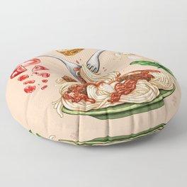 Spaghetti Mandala Floor Pillow