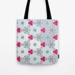Kaleidoscope Flowers Winterday Tote Bag